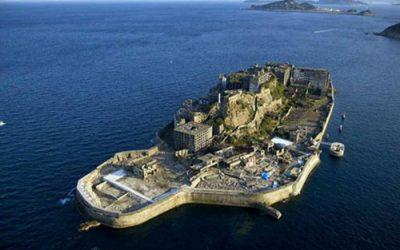 foto área da Ilha Hashima