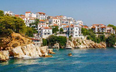 foto ilha grega de Skopelos